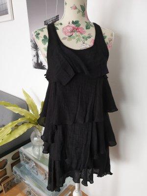 Schwarzes Partykleid im Lagenlook, Retro, Vintage 20er Kleid