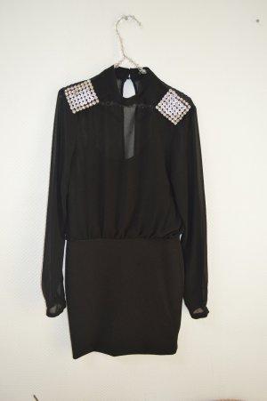 Schwarzes Partykleid von Silvian Heach mit kleinem Rückenausschnitt