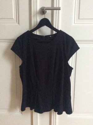 H&M Camicetta a blusa nero Tessuto misto