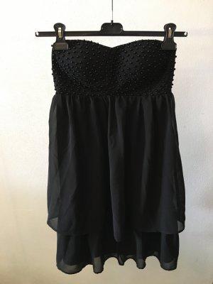 Schwarzes Perlen Kleid