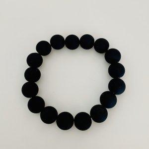 Pearl Bracelet black synthetic material