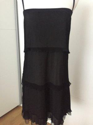 Schwarzes Plissee Kleid