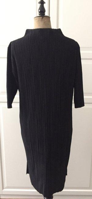 Schwarzes Plissee Kleid /Tunika mit Stehkragen