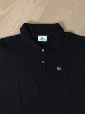 Schwarzes Polo Shirt von Lacoste in Größe 42