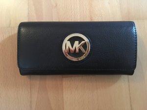 Schwarzes Portemonnaie aus Leder