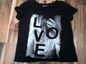 Schwarzes Print Shirt