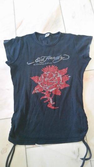 Schwarzes Printshirt
