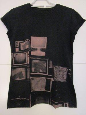 DC Shoes Shirt met print zwart-grijs