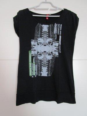Schwarzes Printshirt von H&M