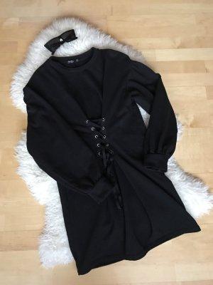 Zara Sweaterjurk zwart-zilver