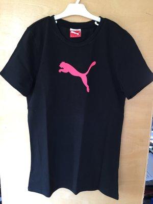 Schwarzes Puma Shirt mit Logo