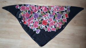 Schwarzes quadratisches Tuch mit bunten Blumen von H&M