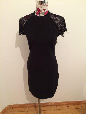 Schwarzes rückenfreies Zara-Spitzenkleid (NEU und mit Etikett)