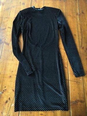 Schwarzes Samt Minikleid, Gr. XS, offener Rücken