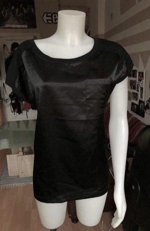 Schwarzes Samt Shirt Esprit M