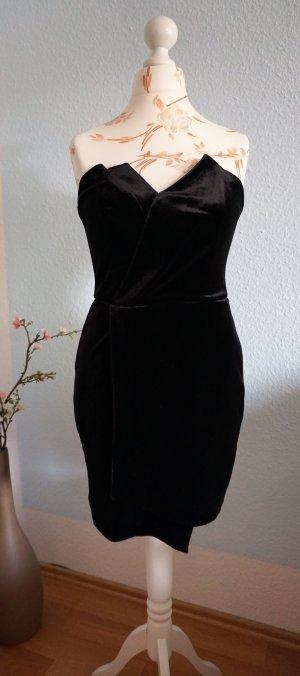 schwarzes Samtkleid, Minikleid von Asos