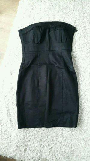 H&M Robe bandeau noir coton