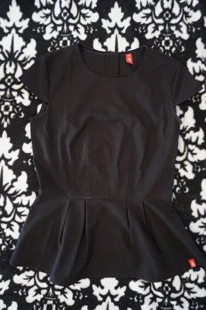 schwarzes schickes T-Shirt mit Schößchen (edc, Esprit)