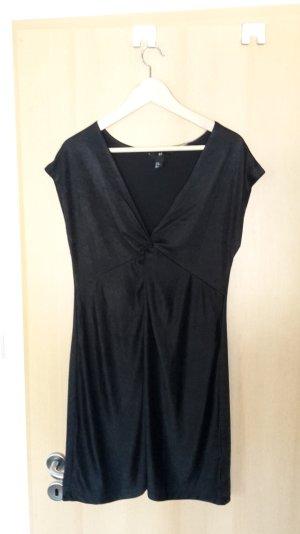 schwarzes, schimmerndes Kleid 38
