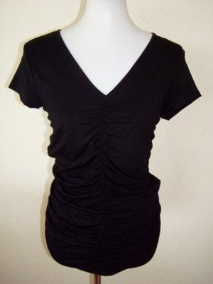Clockhouse V-hals shirt zwart Gemengd weefsel