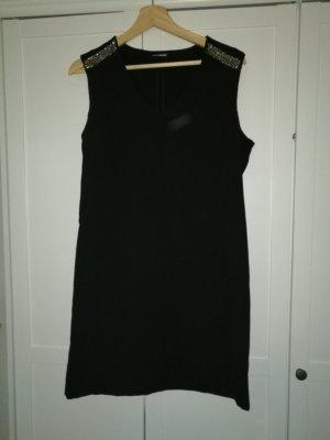 schwarzes schlichtes Kleid A-linie
