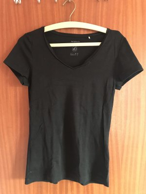 T-shirt col en V noir