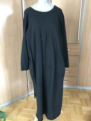 Vestido de tela de sudadera negro