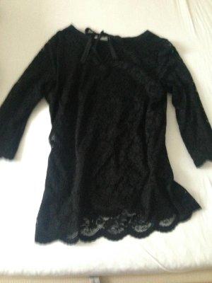 schwarzes schönes Shirt mit Spitze <3 von Jessica, Gr.40