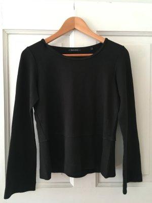 schwarzes Schößchen-Top, small, lockerer Schnitt