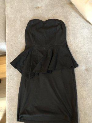 Noisy May Peplum jurk zwart
