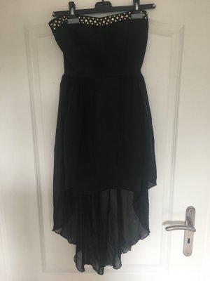 Schwarzes schulterfreies Kleid Größe S