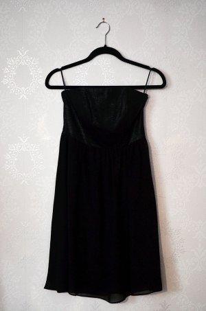 Schwarzes schulterfreies Kleid Pailetten Party Cocktailkleid