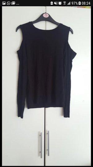 Schwarzes Schulterfreies Shirt