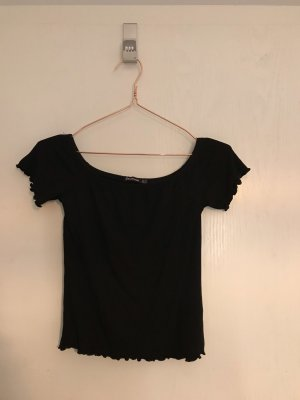 Stradivarius Carmen Shirt black