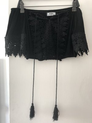 Off the shoulder top zwart