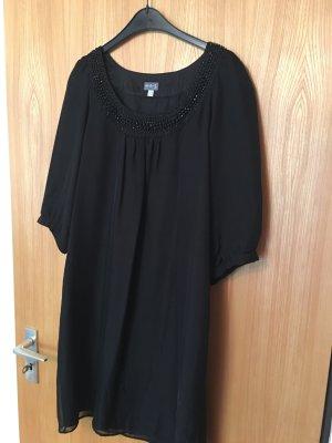 Schwarzes Seiden-Kleid 1-2-3 Gr. 38