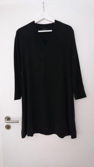 schwarzes Seidenkleid von COS Gr 36