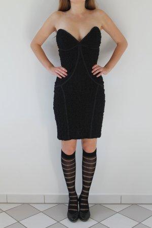 schwarzes sexy Abendkleid kleines Schwarzes trägerlos