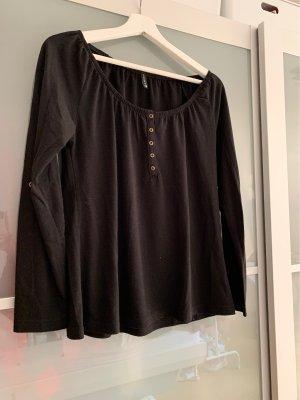 Amisu Lang shirt zwart