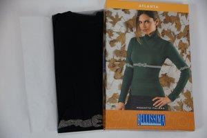 Ribbed Shirt black-silver-colored polyamide