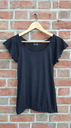 Schwarzes Shirt in Zebraoptik
