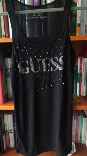 Guess Canotta fitness nero-argento