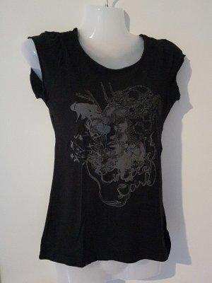 schwarzes Shirt mit Druck