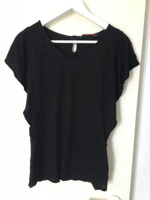 Schwarzes Shirt mit Fledermausärmeln von Tom Tailor