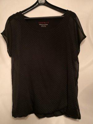 Schwarzes Shirt mit Punkten