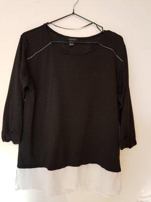 schwarzes Shirt mit reisverschluss