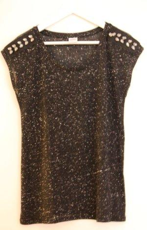 Schwarzes Shirt mit Steinen