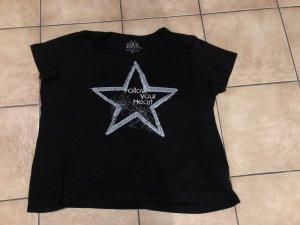 """schwarzes Shirt mit Stern """"Follow your Heart"""" von C&A / Canda - Gr. XXL / 46"""