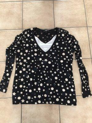 schwarzes Shirt mit Sternen von Nice Connection - Gr. 44