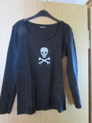 schwarzes Shirt mit Strassapplikation Gr.42